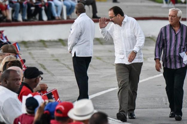 Alejandro Castro, second from right, the son of Cuban President Raúl Castro, in 2016.