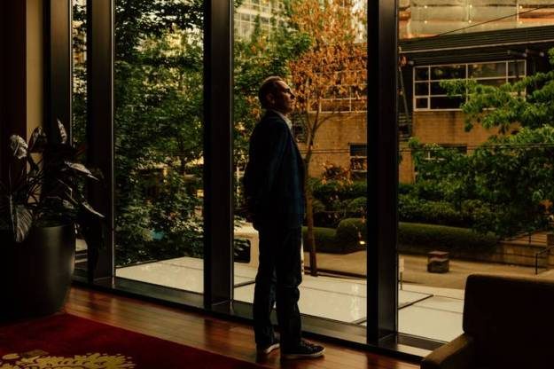 The idea for the web service was discussed at a 2003 brainstorming session in CEO Jeff Bezos' living room, says Mr. Jassy, here at Amazon in Seattle this year.