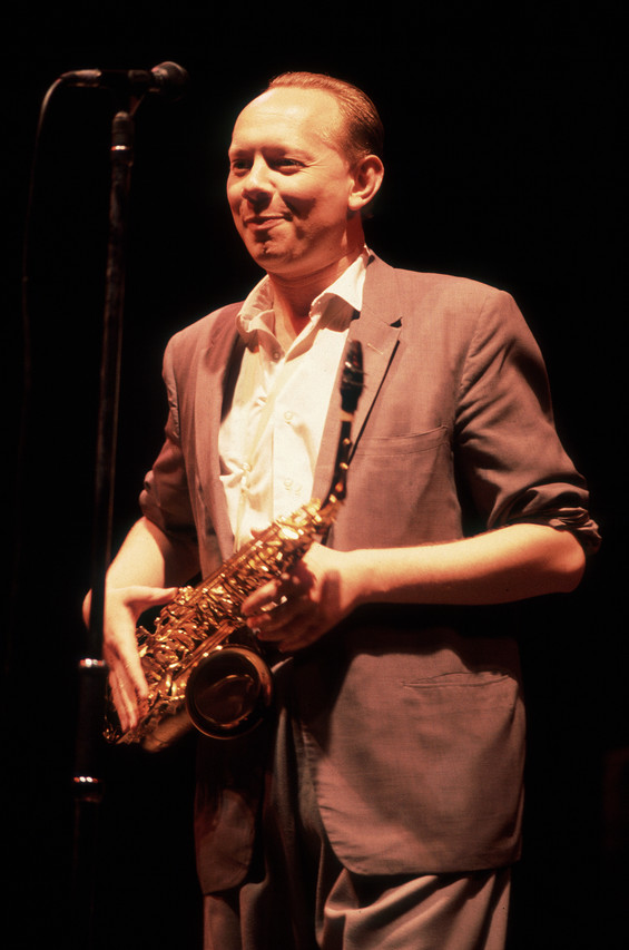 Joe Jackson, at the Aragon Ballroom in Chicago on Sept. 24, 1982, says he often reworks his arrangement of 'Steppin' Out' for performances.