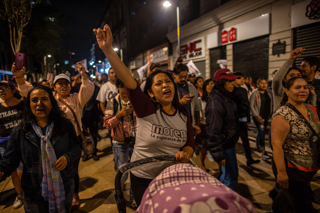 Women celebrated on July 1 the electoral victory of Andrés Manuel López Obrador as Mexico's next president.