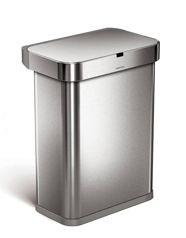 Voice-controlled trash can from Simplehuman.