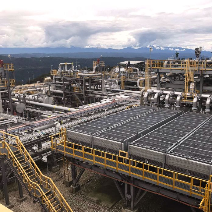 A plant at the Exxon Mobil-led natural-gas project in Papua New Guinea.