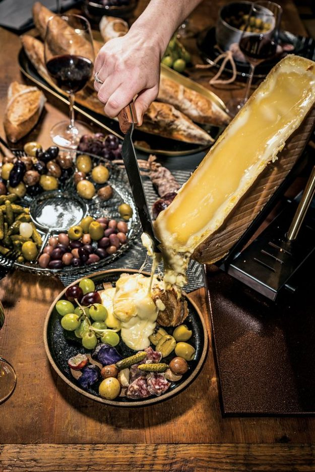RACLETTE UP Simply melt, scrape and make everyone at the table very happy.