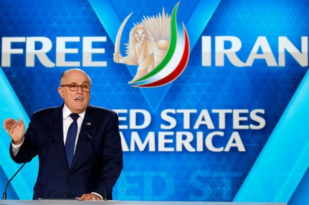 Rudy Giuliani, President Trump's lawyer, addressed the June 30 conference near Paris.
