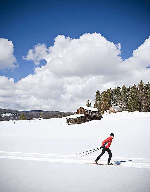 SLIDE RULE Colorado's Devil's Thumb Ranch Resort & Spa encompasses 75 miles of groomed cross-country trails.