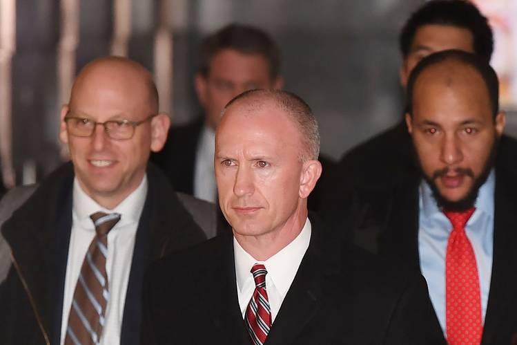 The U.S. trade delegation, led by Deputy Trade Representative Jeffrey Gerrish, center, left Beijing late Wednesday afternoon.
