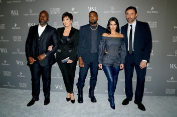 Corey Gamble, Kris Jenner, Kanye West, Kim Kardashian West and Riccardo Tisci