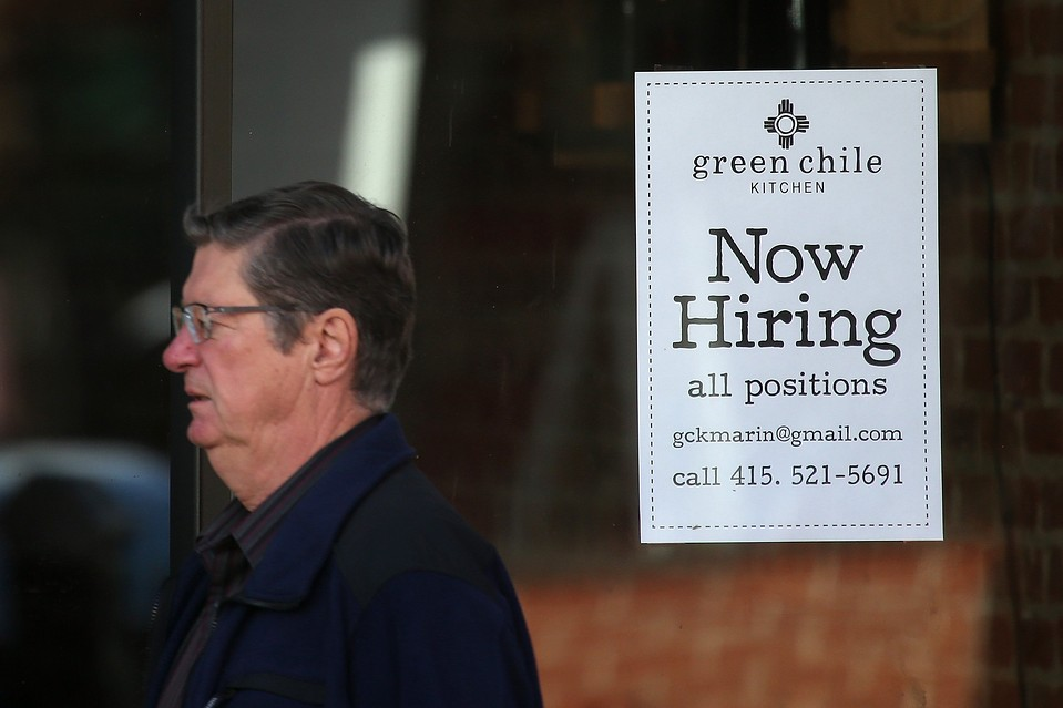 Hiring has picked up and the unemployment rate has fallen sharply over the past year, but wages have continued growing by only about 2% annually.
