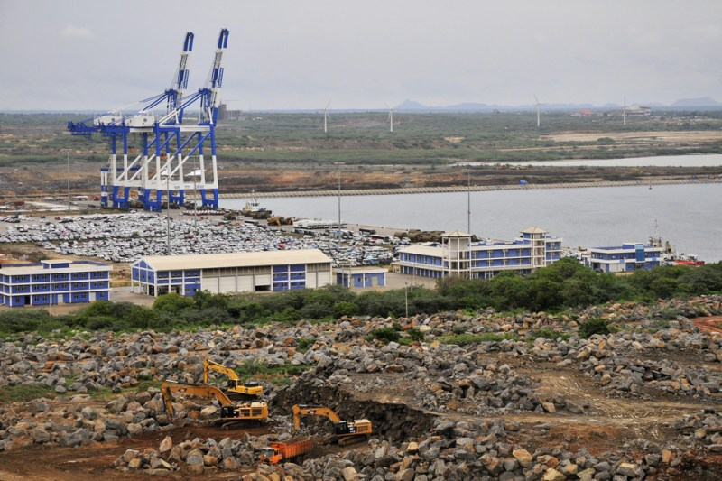A multibillion-dollar port in Hambantota, Sri Lanka, is being built with Chinese money.