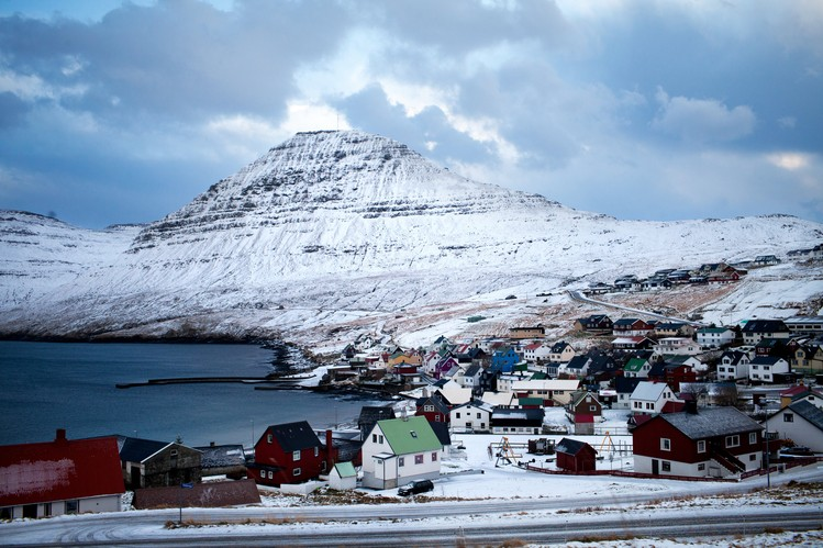 A small fishing village in the Faeroe Islands, which are benefiting from rising hostility between Moscow and the West.