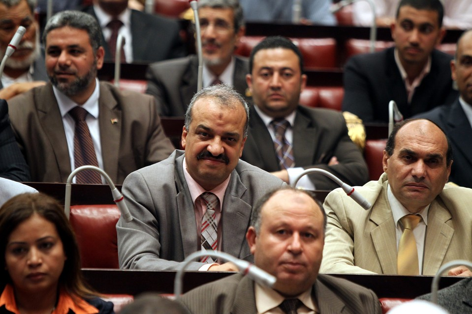 Mohammed el-Beltagy, center, of the Muslim Brotherhood's Freedom and Justice Party attending the first meeting of the constituent assembly in Cairo, Egypt in this  photo from 2012. On Saturday an Egyptian court handed down life sentences on Mr. Beltagy, along with Muslim Brotherhood Supreme Guide Mohammed Badie, and 12 others.