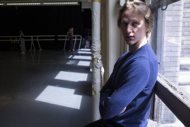 David Hallberg in the studio