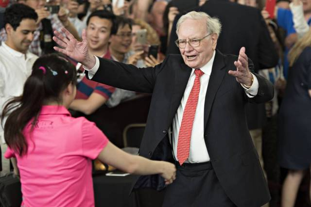 Warren Buffett, seen at Berkshire Hathaway's annual meeting last month, has run the company for 50 years.