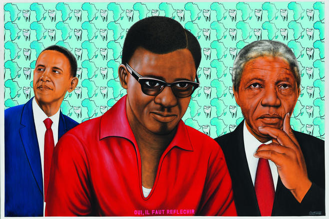 Chéri Samba, 'Oui, il faut réfléchir,' 2014.