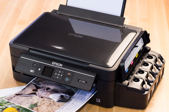 Epson ET_2550 printer has tank of ink that can run for two years (or longer) without needing a refill.
