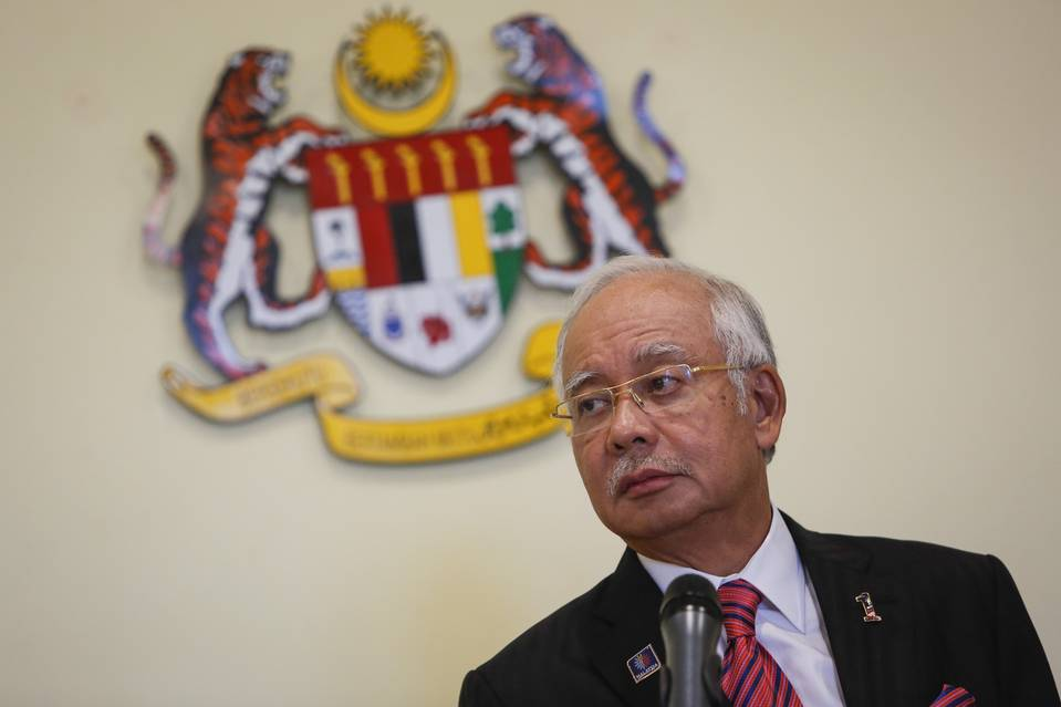 Malaysia Prime Minister Najib Razak speaks at a news conference earlier in August. Swiss authorities opened a probe into a pair of transactions reported to the country's money-laundering office linked to a state investment fund whose advisory board Mr. Najib heads.