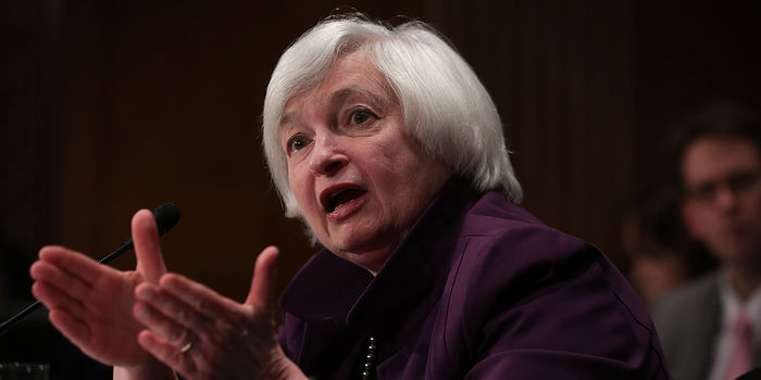 Federal Reserve Chair Janet Yellen testifying on Capitol Hill, July 16.