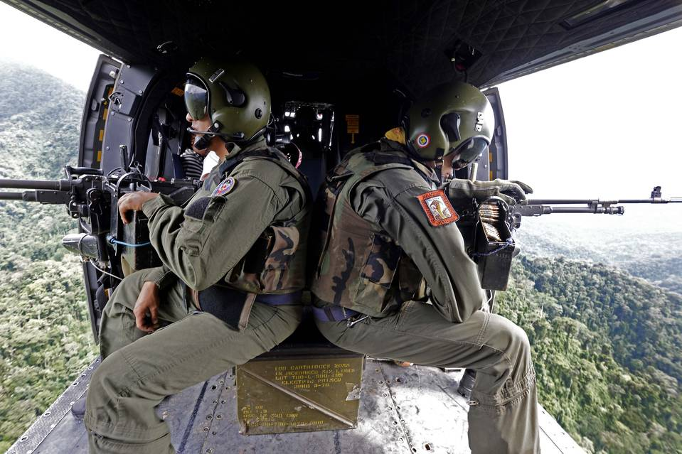 Venezuelan soldiers take part in an 2014 operation to destroy clandestine cocaine laboratories near the border with Colombia.