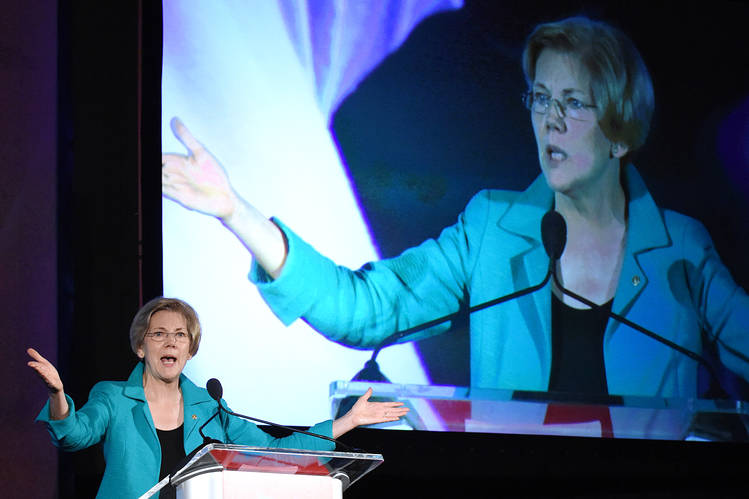 Sen. Elizabeth Warren at a Planned Parenthood conference in Washington, D.C., July 8.