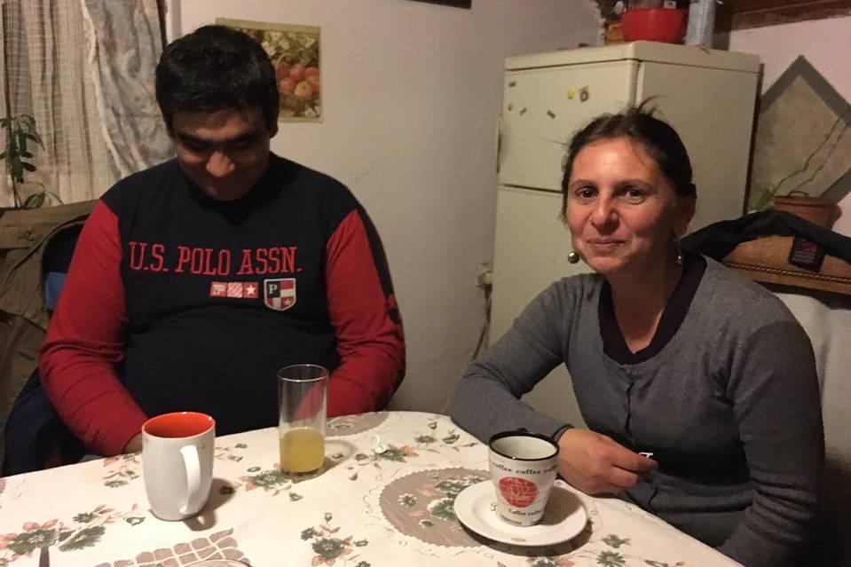 Đeno Nikolić and his wife, Biljana, at home.