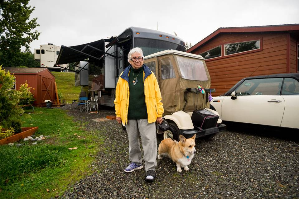 Court-appointed guardians controlled much of 74-year-old Linda McDowell's life for 30 months. A judge ended the guardianship in 2014, and she now lives in her mobile home with her dog, Sam, much of her savings gone.