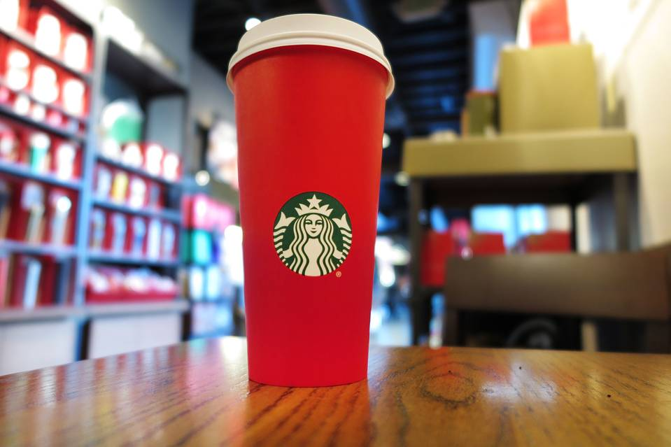 This year's Starbucks red holiday cup.