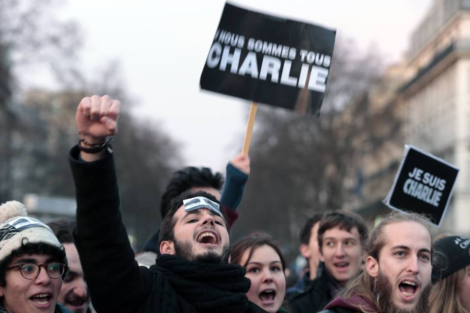 Demonstrators attended a Paris unity rally in January.