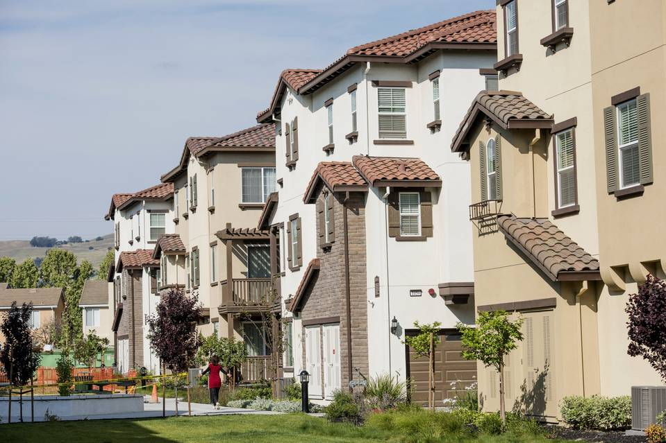 A development of townhomes in San Jose, Calif. Even though the housing sector has picked up, the economic impact has been muted.