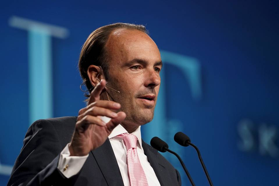 Kyle Bass, of Hayman Capital Management, at the Skybridge Alternatives Conference last May. He believes the yuan could fall as much as 40% over the next three years.