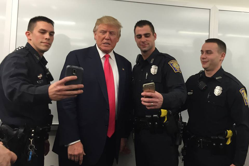 Image result for police trump