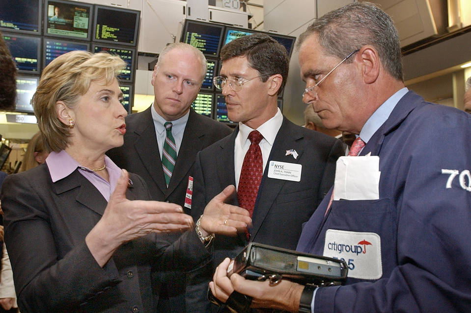 Image result for images of Clinton & Wall Street