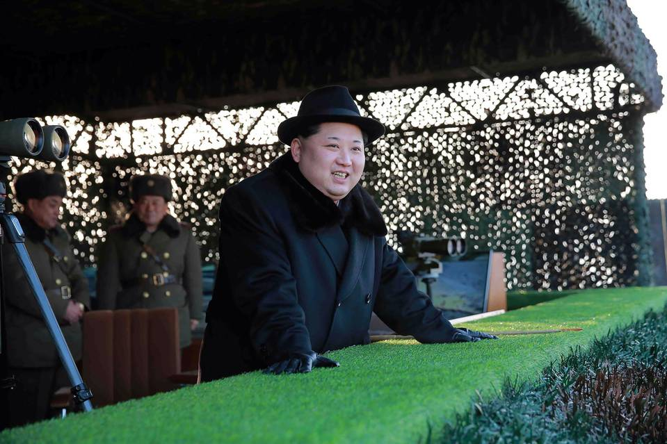 An undated photo of North Korean leader Kim Jong Un released by the country's Korean Central News Agency.