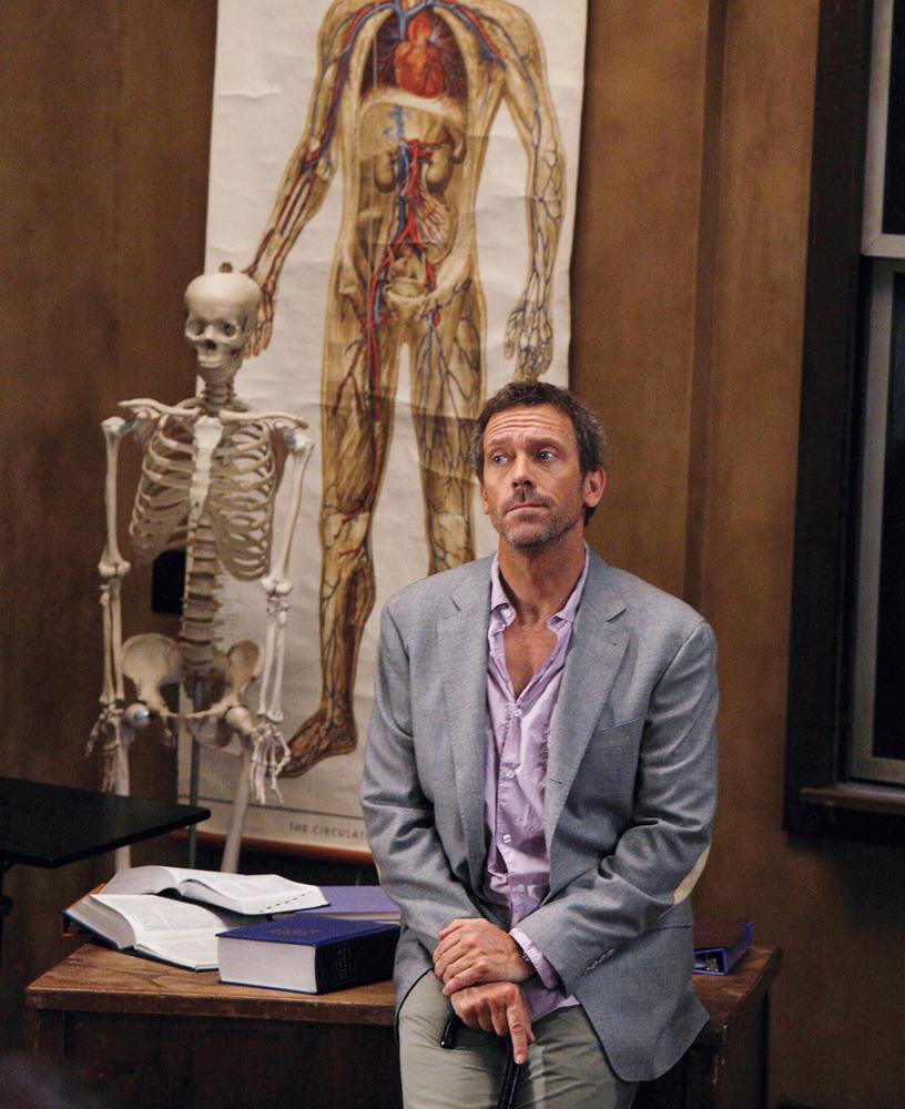 Hugh Laurie en uno de los episodios de 'House'.