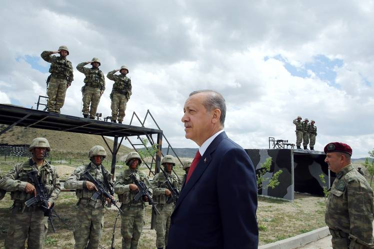 President Recep Tayyip Erdogan visited Turkish special forces in Ankara earlier this month.