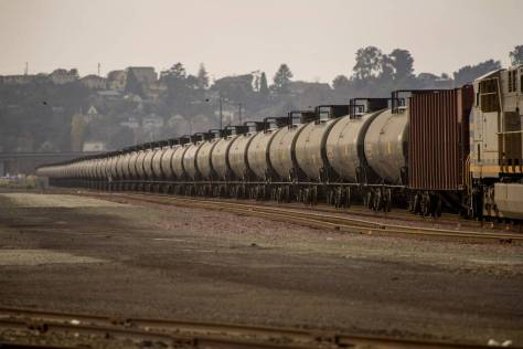 Even at its height in 2014, crude-by-rail accounted for less than 2% of total rail volumes.