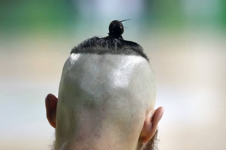 Image result for aron baynes top knot