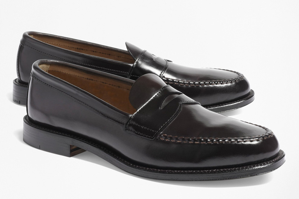 A classic penny loafer from Brooks Brothers