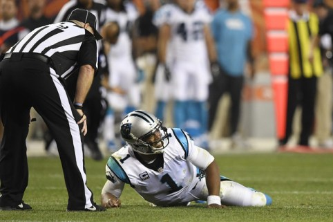 Image result for cam newton getting hit