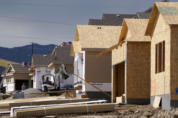 New homes under construction earlier this year in Arvada, Colo.