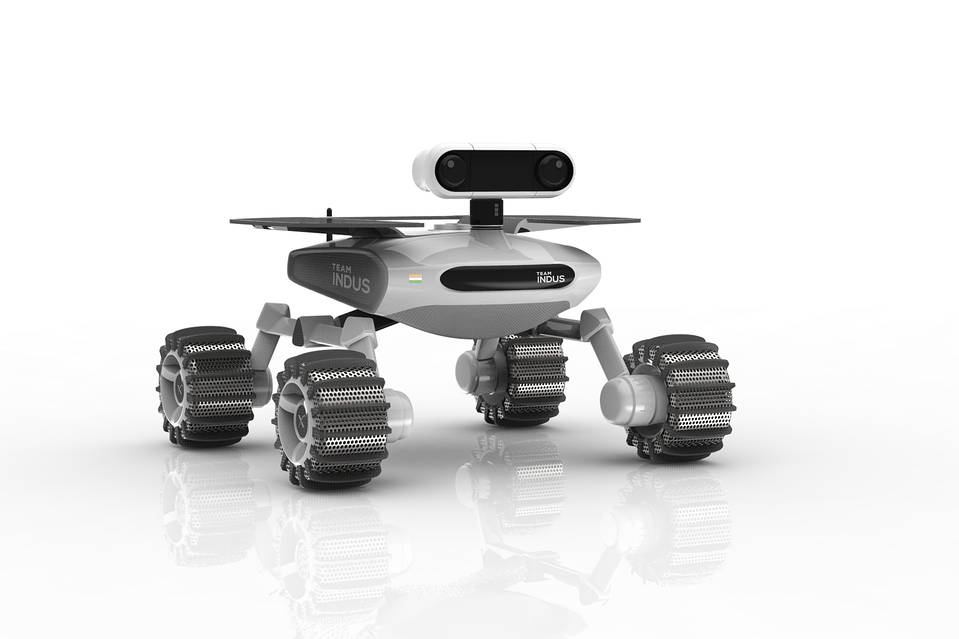 Team Indus's working rover.