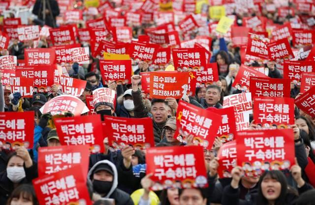 Resultado de imagem para protesto coreia do sul