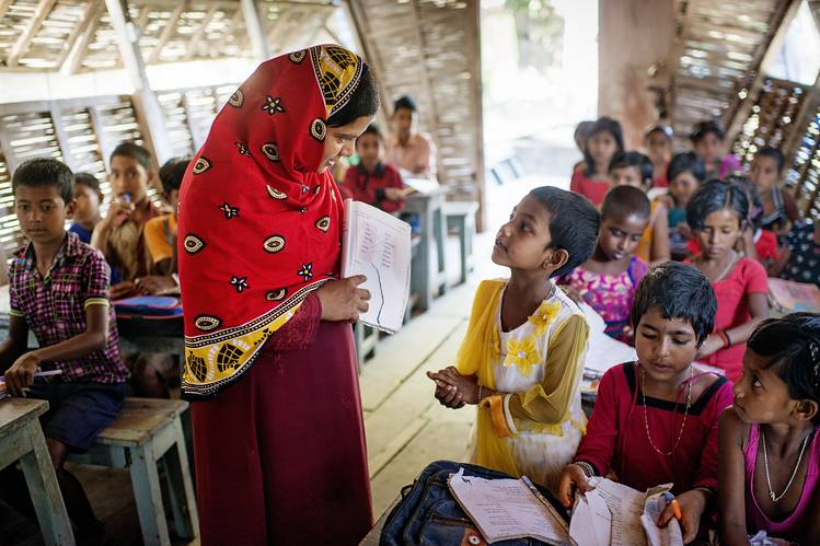 In Bangladesh, students meet in a floating classroom built to reach isolated areas during monsoon season.