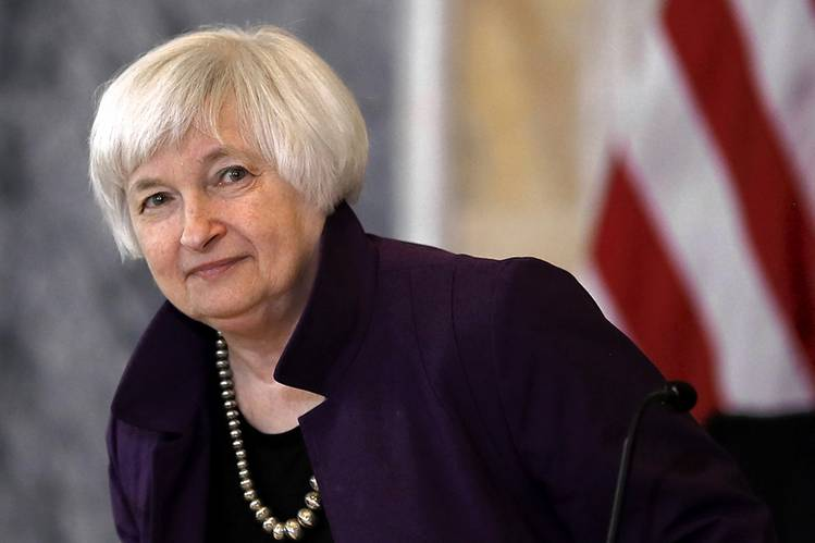 Federal Reserve Chair Janet Yellen at the Treasury Department, May 22.