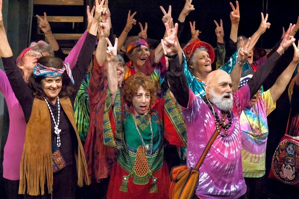 A Stagebridge performance of 'Hair' in Berkeley, Calif. The group offers 30 classes a week and has eight performing troupes.