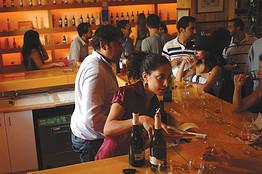 The bar at Château Kefraya