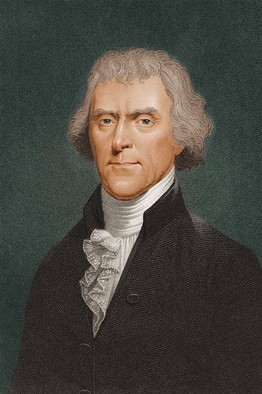 Thomas Jefferson, third president of the United States of America.