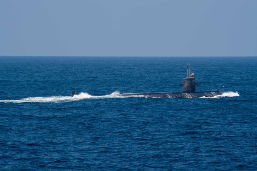 A U.S. Navy attack submarine.