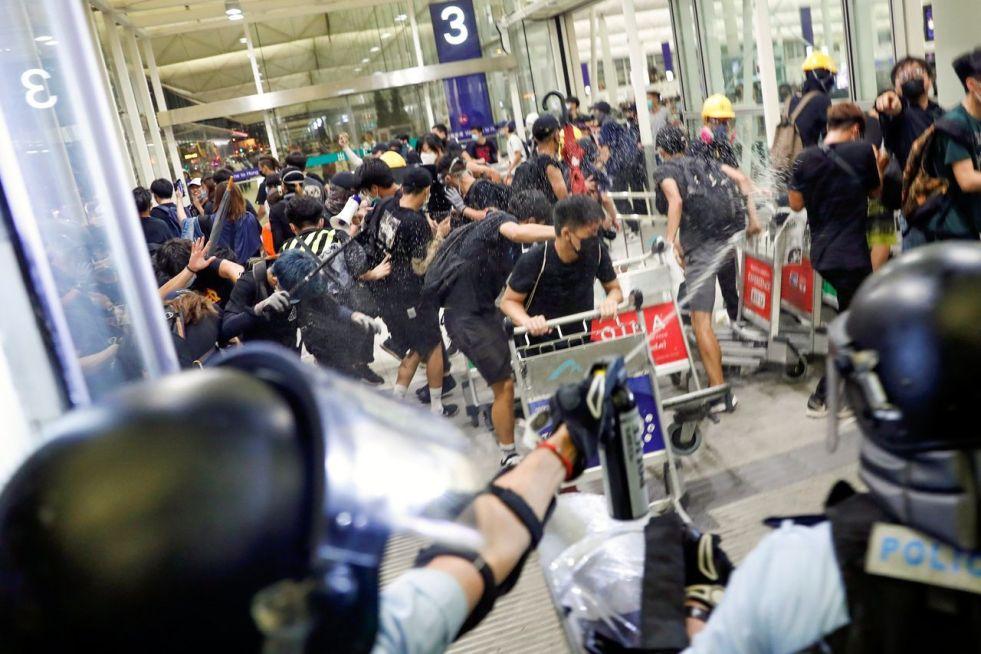 Image result for china hong kong clash