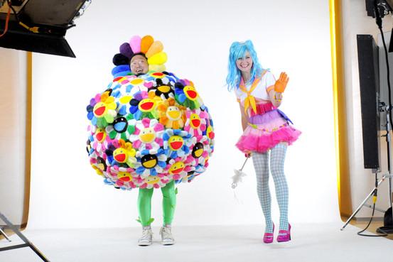 Takashi Murakami and Kirsten Dunst
