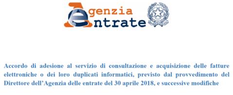 FTEL 29 – NUOVO Servizio di Consultazione e Acquisizione delle e-fatture – opzione da esercitare entro il 31.10.2019